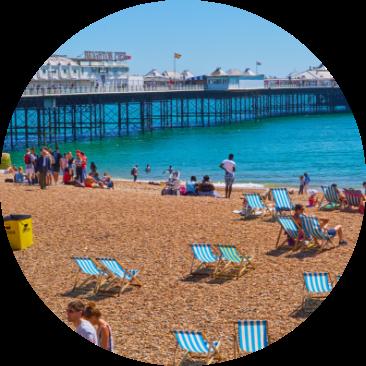 Photo of Brighton beach, one of the UK's most stylish cities