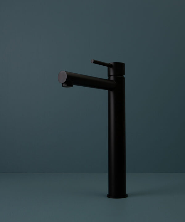 black inga tap on blue background