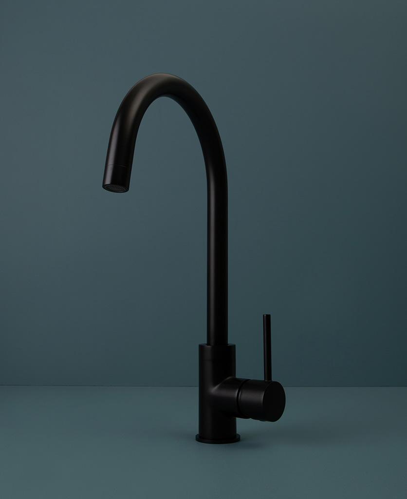 black tinkisso tap on blue background