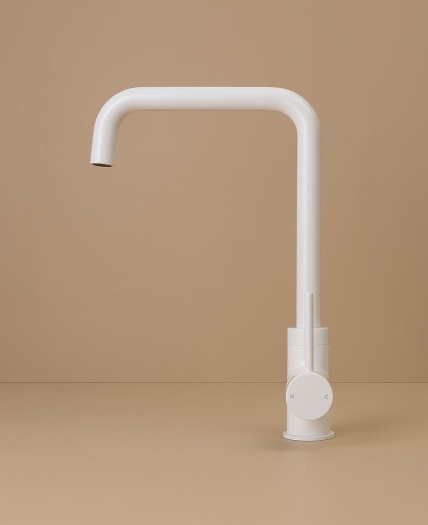 white kintampo tap side angle