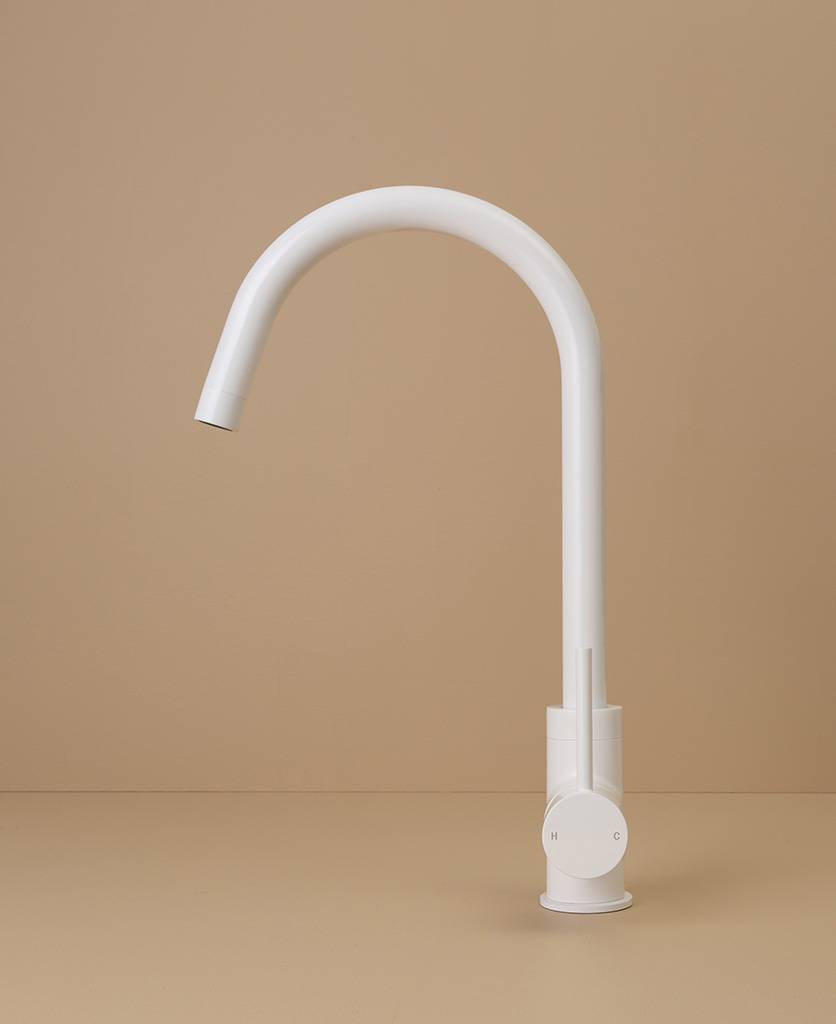 white tinkisso tap side angle