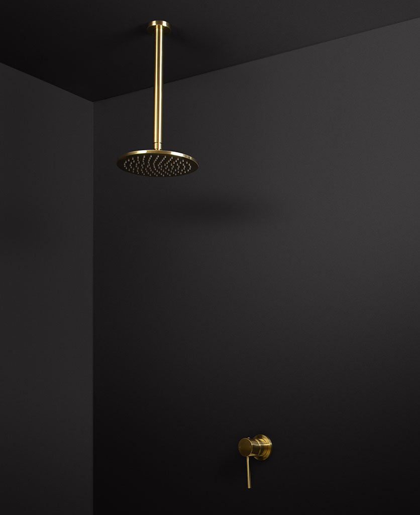 gold ceiling shower