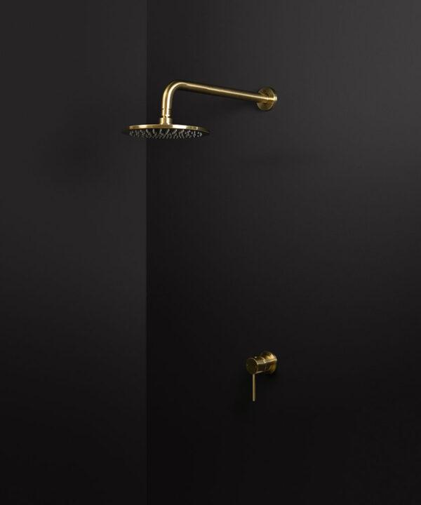 gold wall shower