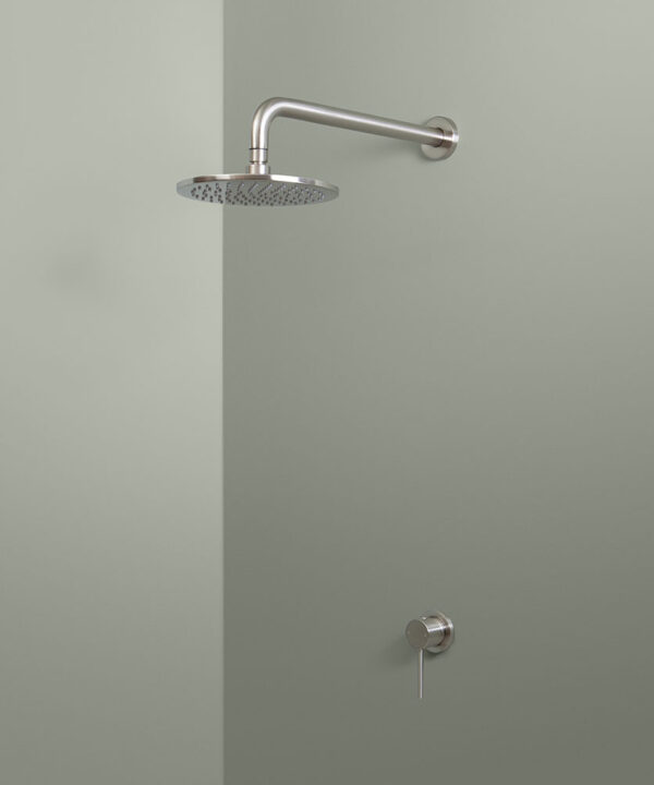 silver wall shower